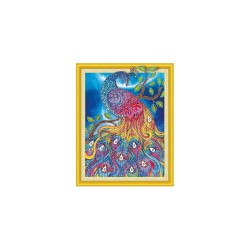 Diamond painting kit 47cm x 57cm - Peacock