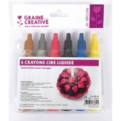Candle pen deco paint 30ml (6 pcs)