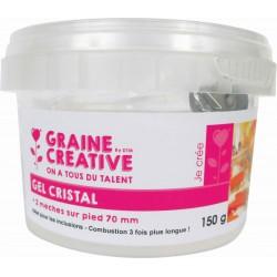 Colourless crystal gel 150g + 2 wicks