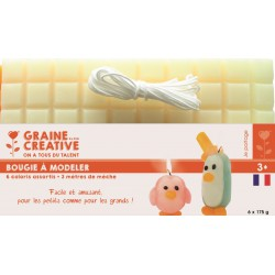 MODELLING CANDLE - 6*175 g - PASTEL