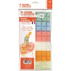 Modelling candle - 6 x 40g - Pastel sheets