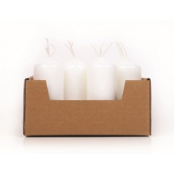 PACK OF 12 WHITE CANDLES - Ø40 * H 110