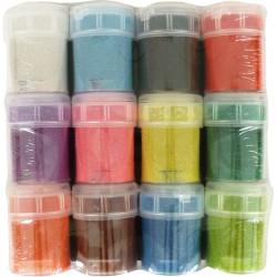 Set colored sand 45g - Bright colors (12 pcs)