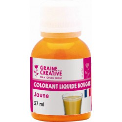 BOTTLES OF LIQUID COLOURING FOR CANDLE - 27 ML -YELLOW