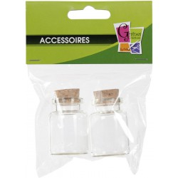 PACK OF 2 GLASS BOTTLE W/CORK No 4  /  30x38