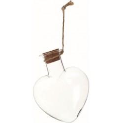 GLASS HEART 8X9CM