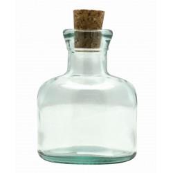 ROUND-SHAPED GLASS POT - H 9.5