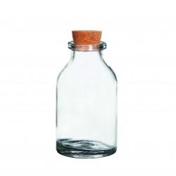 Mini glass bottle with cork 20ml - 60mm (105 pcs)