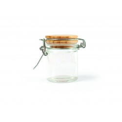 Glass jar with wooden lid round Ø 43mm x 60mm
