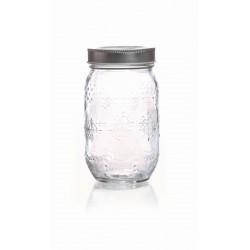 ARABESQUE GLASS JAR - 375 ML