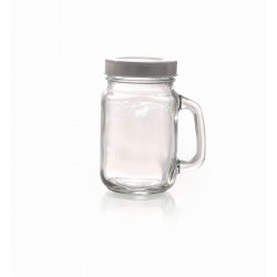 CLASSIC GLASS JAR WITH HANDLES - 370ML