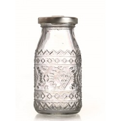 Glass bottle with gap for straw 200ml - Ethnic