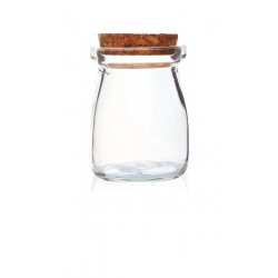 Storage container with cork stopper 5,5cm x 7,5cm