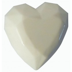 1  HEART CARVED IN STONE PLASTER CAST