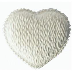1 WOOLEN HEART PLASTER CAST