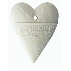1 LACE HEART PLASTER CAST