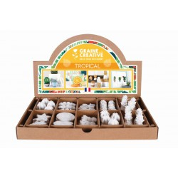 Display rack - Plaster tropical objects (64 pcs)