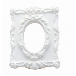 1 FRAME CAST : BAROQUE RECTANGLE WITH OVAL WINDOW TRIM
