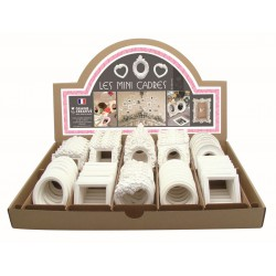 Display rack plaster objects - Frames decorable (70 pcs)