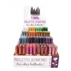Display ultra fine glitter 3g - 192 tubes (16 colors)