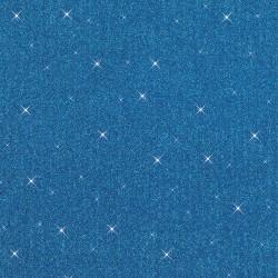 Rubber foam 20cm x 29cm - Blue sequin