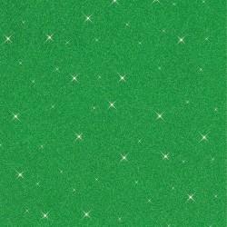 Rubber foam 20cm x 29cm - Green sequin