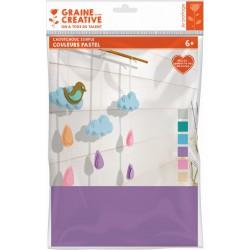 Rubber sheets - Pastel colors (6 pcs)