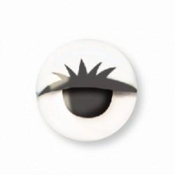 Wiggle eyes with lashes 10mm - White (10 pcs)
