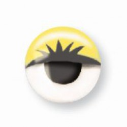 Wiggle eyes with lashes 10mm - Yellow (10 pcs)