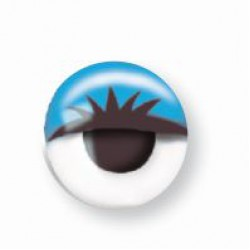Wiggle eyes with lashes 10mm - Blue (10 pcs)
