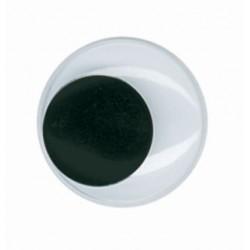 Wiggle eyes 20mm self-adhensive (12 pcs)
