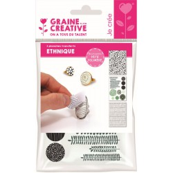 Transfer for polymer clay A6 - Ethnique (3 pcs)