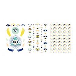 Transfer for polymer clay A6 - Evil eye (3 pcs)