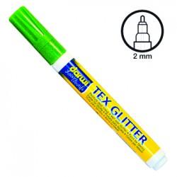 Felt pen for fabric - Glitter green