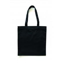 Cotton shopping bag 375mm x 420mm x 12mm - Black