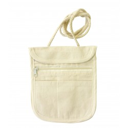 White bag in cotton 140mm x 170mm x 5mm