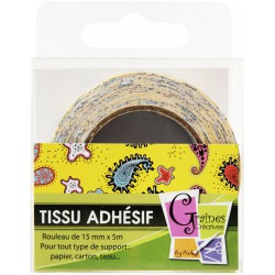 FABRIC ADHESIVE TAPE DREAMY BUBBLES 15mmx5m