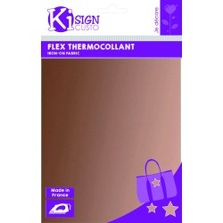 Thermo-Adhesive fabric 150mm x 200mm - Metallic copper