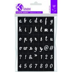 Adhesive stencil 120mm x 180mm - Moderne alphabet