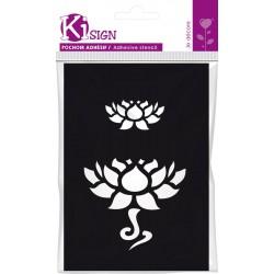 Adhesive stencil 70mm x 100mm - Lotus