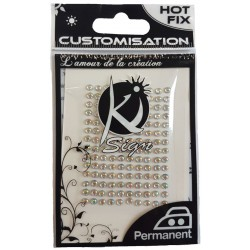 HOT FIX RHINESTONES 3 mm - HOLOGRAPHIC 140 pcs