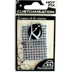 HOT FIX RHINESTONES 6 mm - BLUE 35 pcs