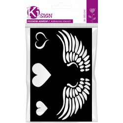 WINGED HEART ADHESIVE STENCIL 120x180