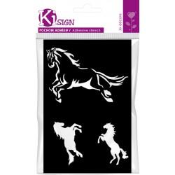 HORSES ADHESIVE STENCIL 120x180