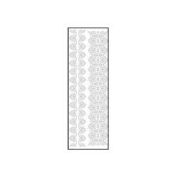 Transfer thermo velours 100mm x 300mm white - Lace