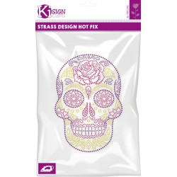 MEXICAN SKULL NEON STRASS 180x250