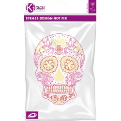 MEXICAN SKULL 3 NEON STRASS 180x250