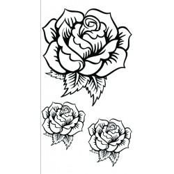 Transfer Hot Fix mini 90mm x 145mm black - Roses