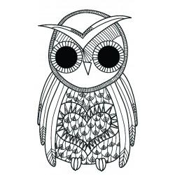 Transfer Hot Fix mini 90mm x 145mm black - Owl