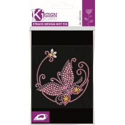 MINI STRASS/NAILS BUTTERFLY 96x101